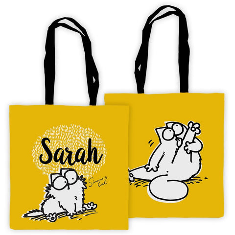 Personalised Yellow Preening Premium Tote - Simon's Cat Shop