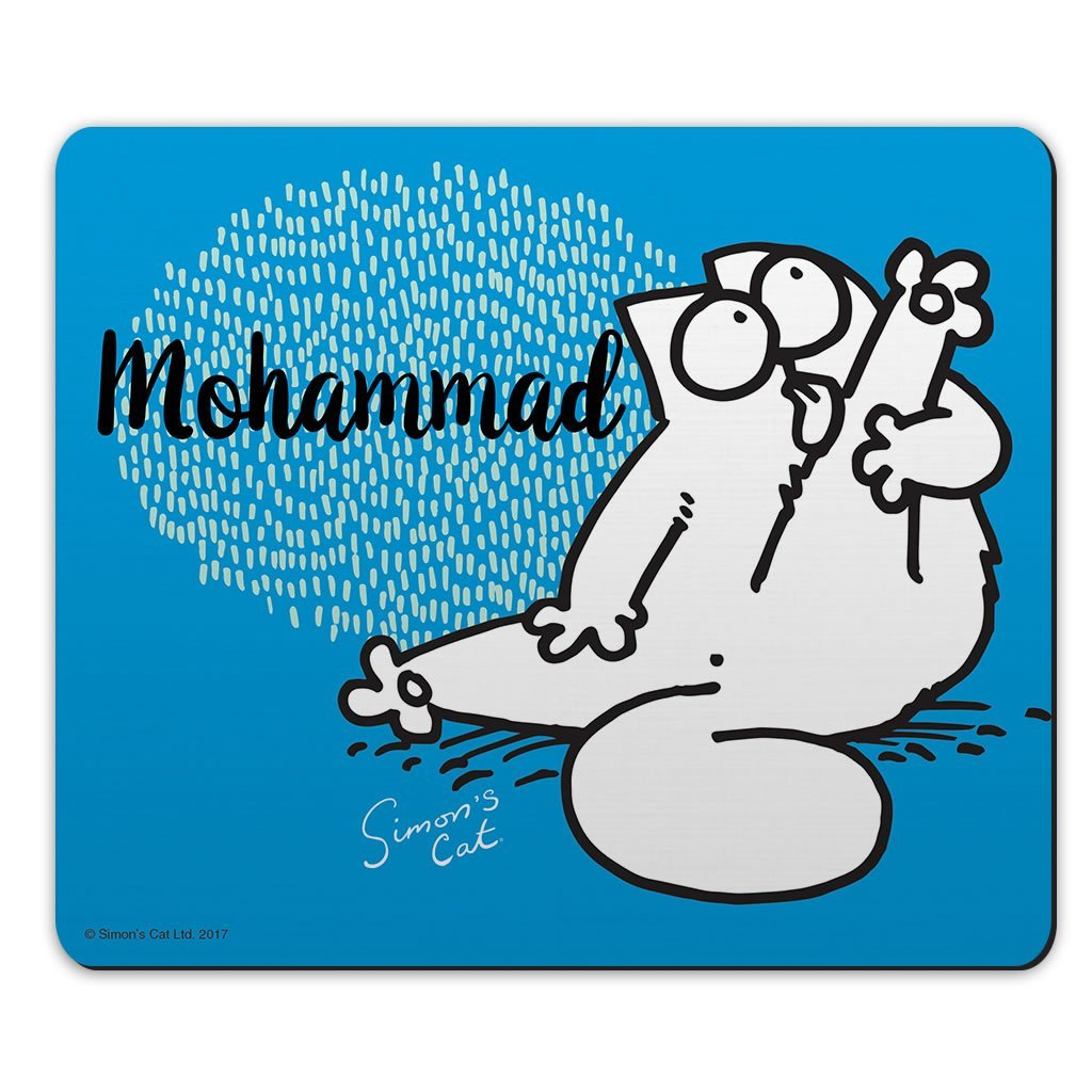 Personalised Preening Blue Mouse Mat - Simon's Cat Shop