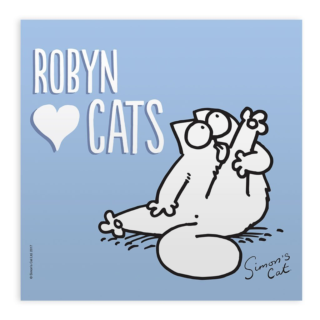 Personalised Love Cats White Framed Print - Simon's Cat Shop