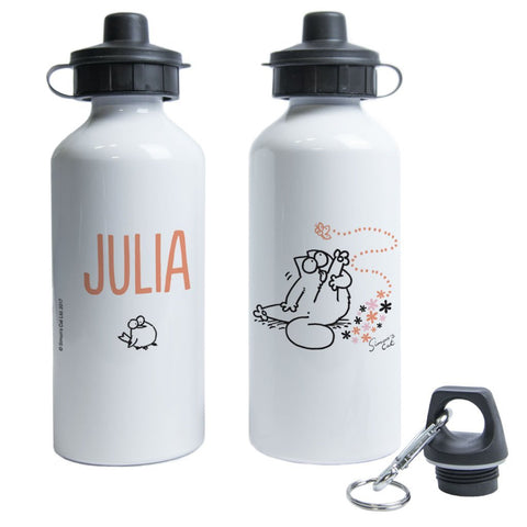 Personalised Preening Water Bottle - Simon's Cat Shop