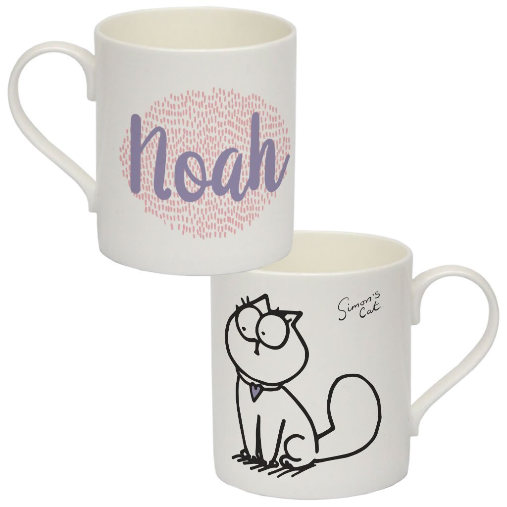 Personalised noah Bone China Mug - Simon's Cat Shop