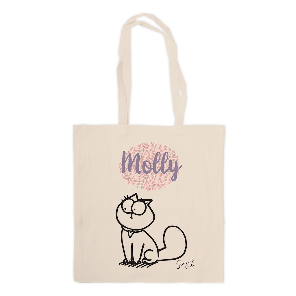 Personalised Sitting Standard Tote - Simon's Cat Shop