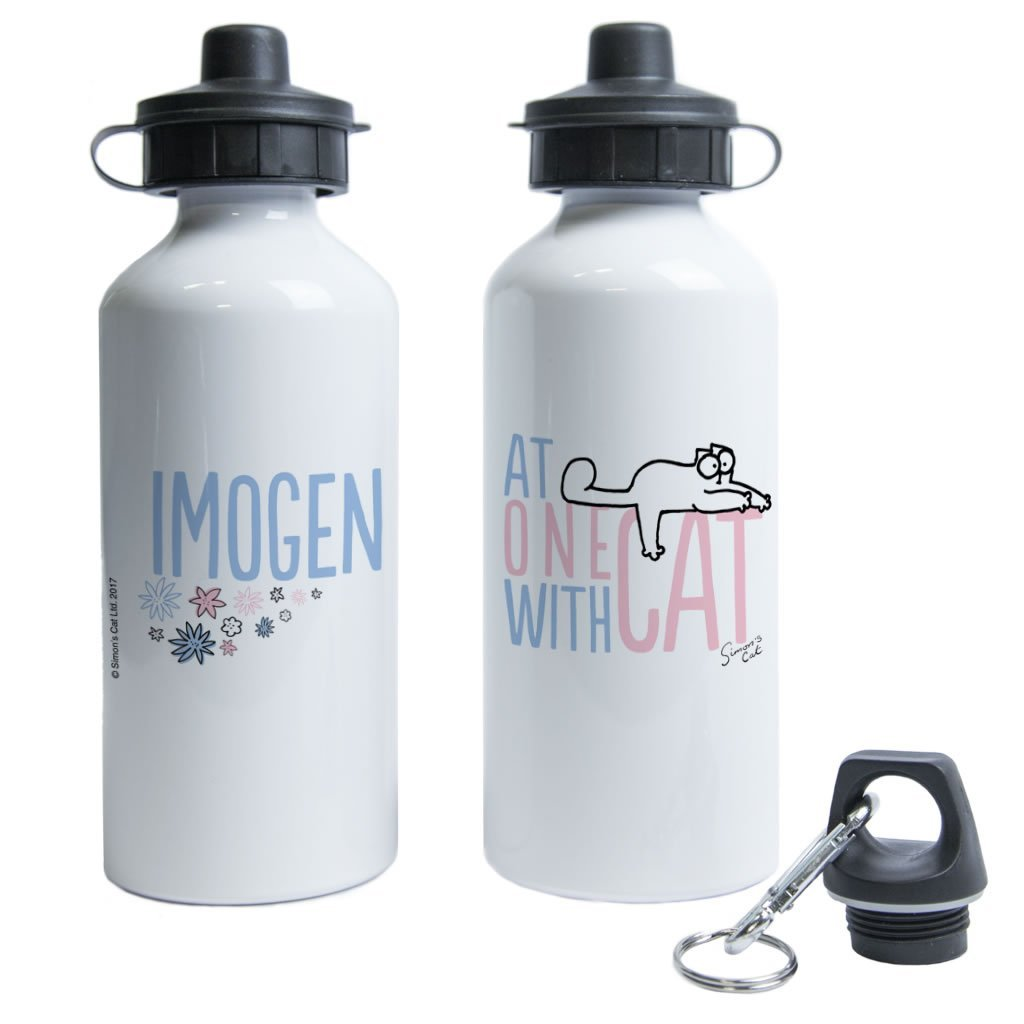 Personalised At One With Cat Water Bottle - Simon's Cat Shop