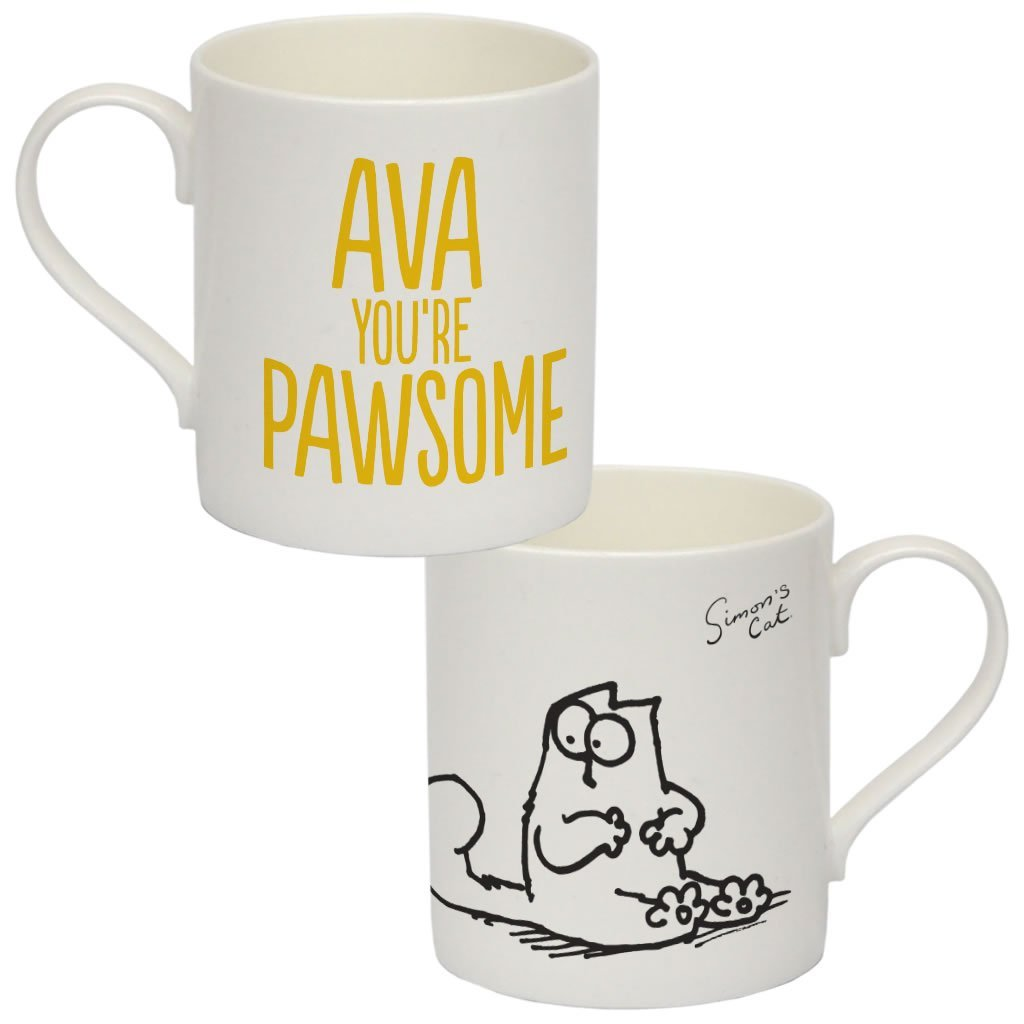 Personalised You're Pawsome Bone China Mug - Simon's Cat Shop