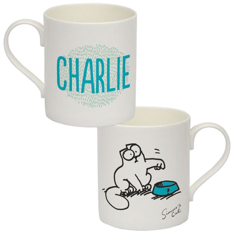 Personalised Feed Me Bone China Mug - Simon's Cat Shop