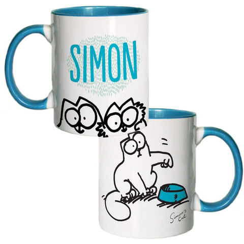 Personalised Feed Me Coloured Insert Mug - Simon's Cat Shop