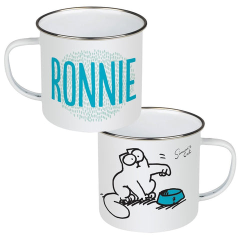 Personalised Feed Me Enamel Mug - Simon's Cat Shop