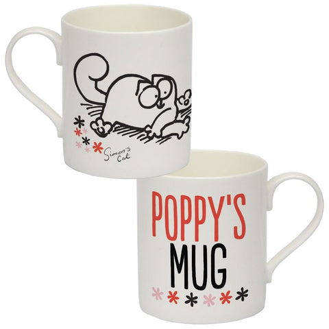 Personalised Chilling Cat Bone China Mug - Simon's Cat Shop
