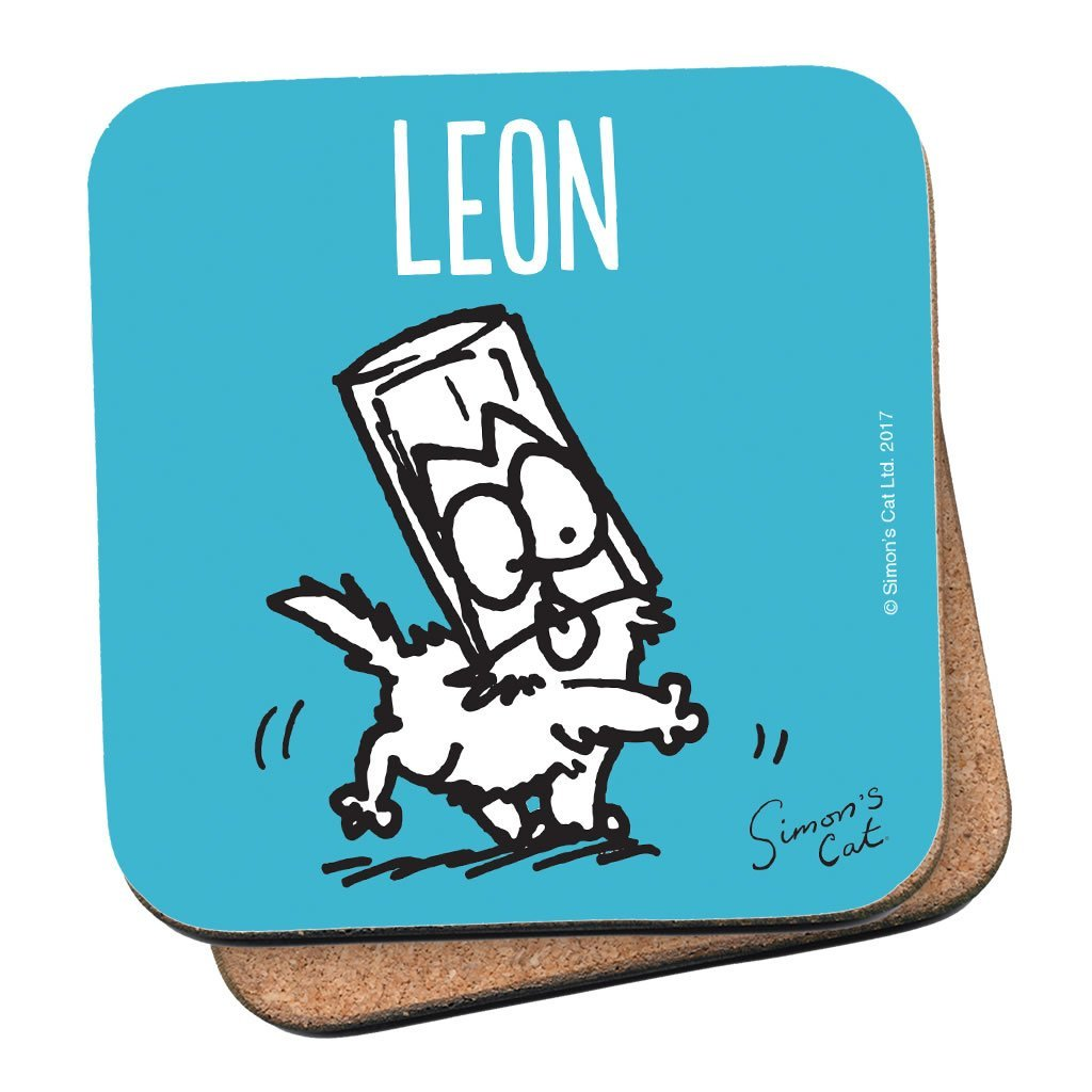 Personalised Blue Coaster - Simon's Cat Shop