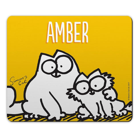 Personalised Friends Yellow Mouse Mat - Simon's Cat Shop