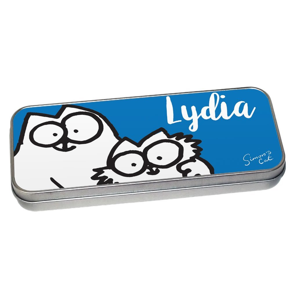 Personalised Friends Blue Pencil Tin - Simon's Cat Shop