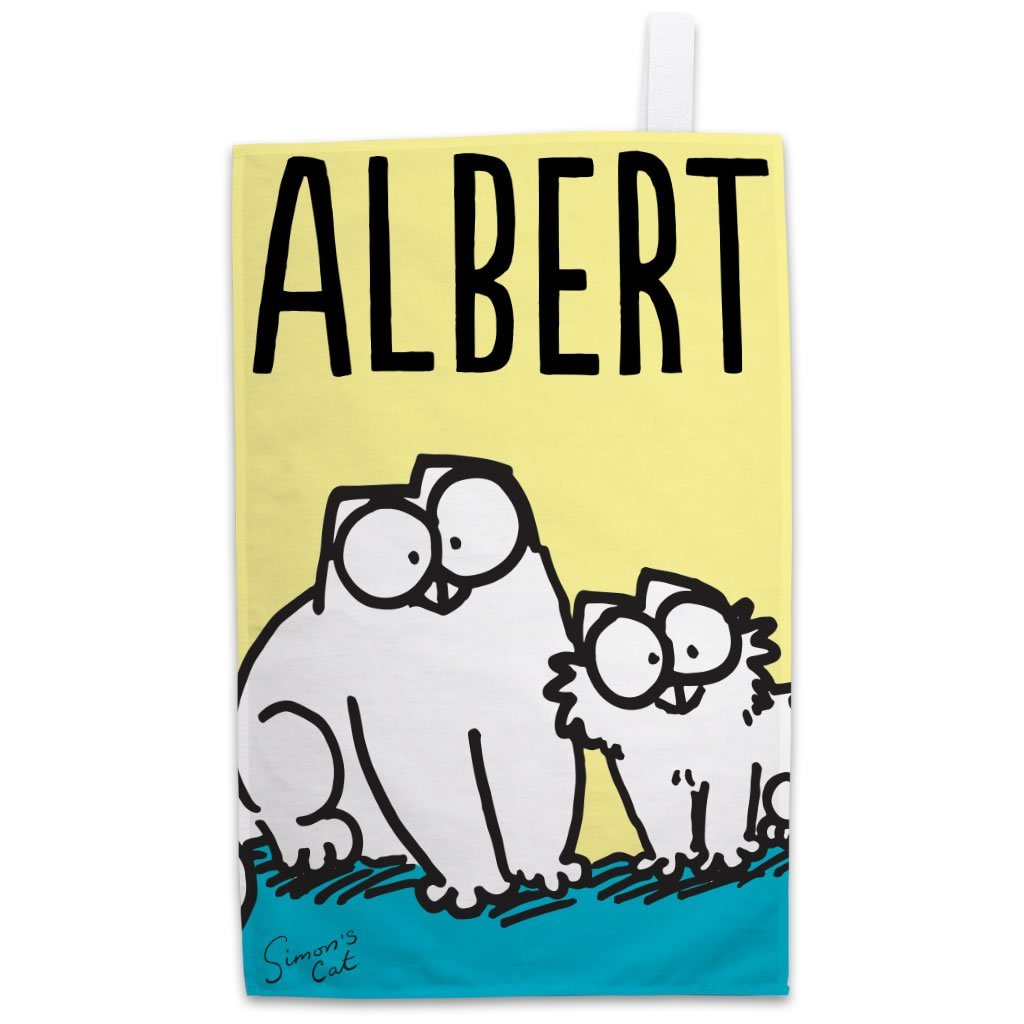 Personalised Friends Yellow Tea Towel - Simon's Cat Shop