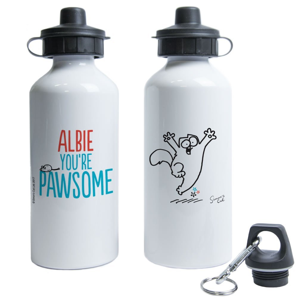 Personalised You're Pawsome Water Bottle - Simon's Cat Shop