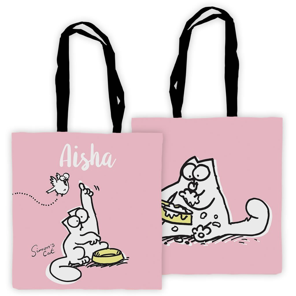 Personalised Pink Feed Me Premium Tote - Simon's Cat Shop