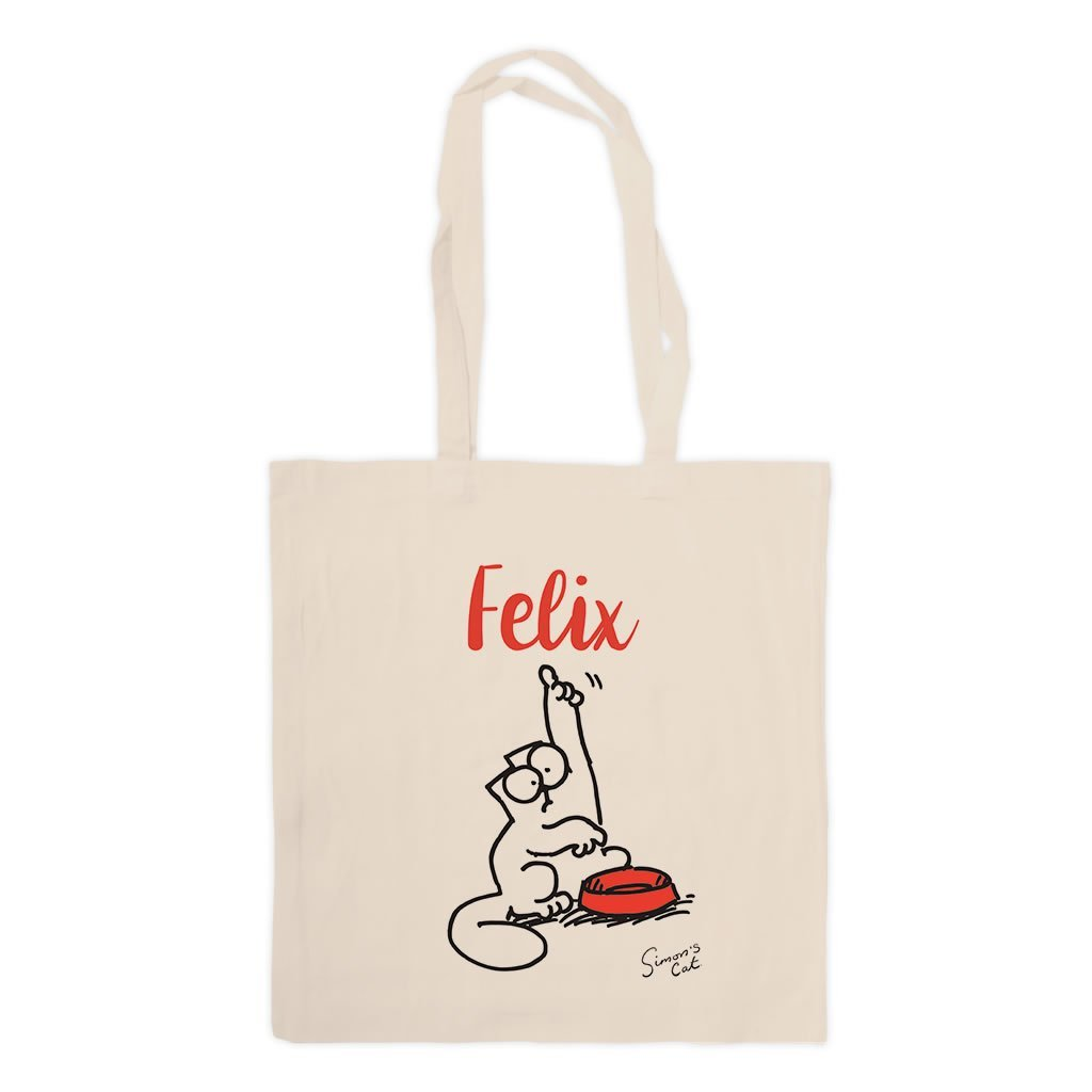 Personalised Feed Me Standard Tote - Simon's Cat Shop