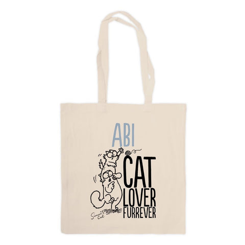 Personalised Cat Lover Furrever Standard Tote - Simon's Cat Shop