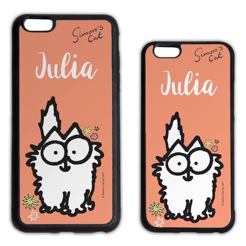 Personalised Peach Phone Case - Simon's Cat Shop