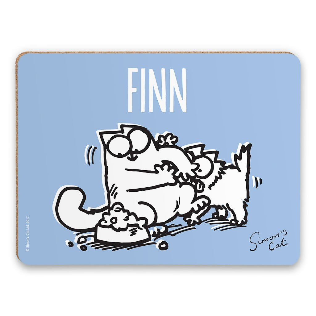 Personalised Paw's Off Blue Placemat - Simon's Cat Shop