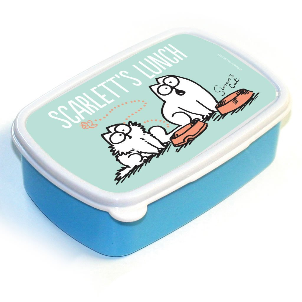 Personalised Empty Bowl Blue Lunch Box - Simon's Cat Shop