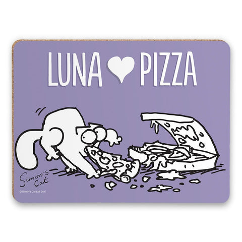 Personalised Love Pizza Purple Placemat - Simon's Cat Shop