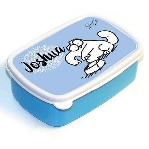 Personalised Feed Me Blue Lunch Box - Simon's Cat Shop