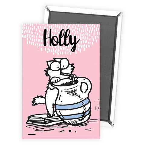 Personalised Drink Pink Magnet - Simon's Cat Shop
