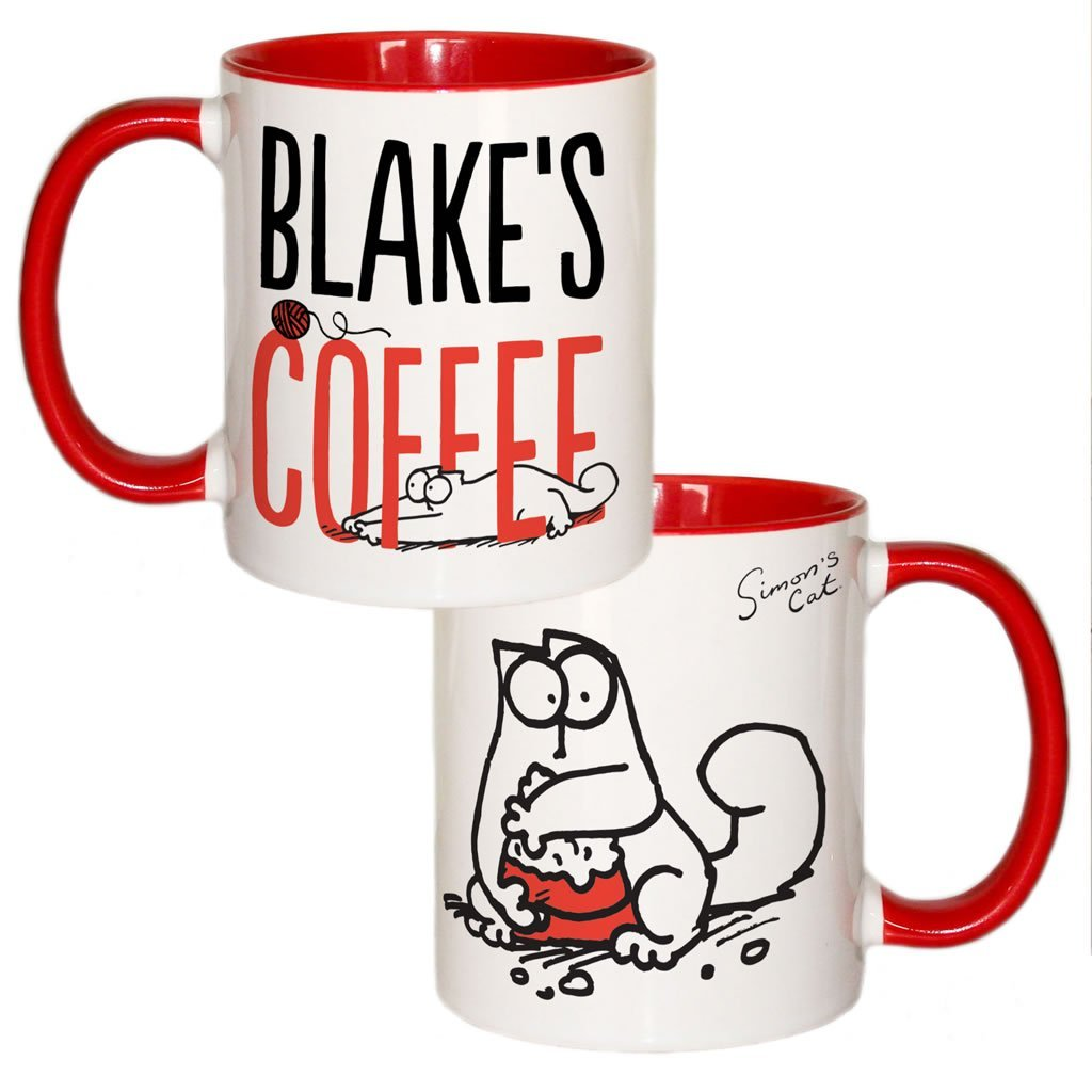 Personalised Coffee Coloured Insert Mug - Simon's Cat Shop