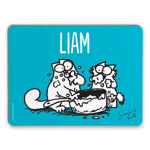 Personalised Tasty Blue Placemat - Simon's Cat Shop