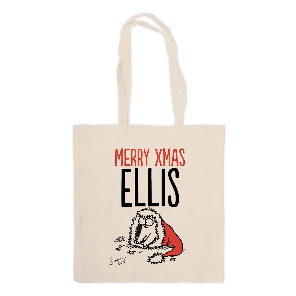 Personalised Merry Xmas Standard Tote - Simon's Cat Shop