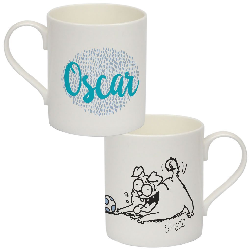 Personalised Pug Life Bone China Mug - Simon's Cat Shop