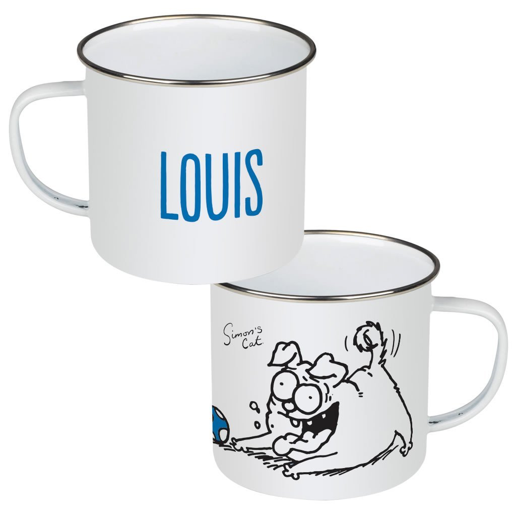 Personalised Pug Life Enamel Mug - Simon's Cat Shop