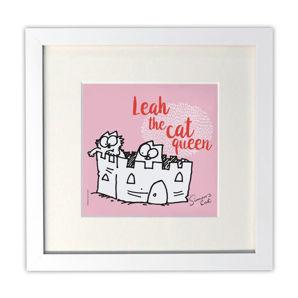 Personalised The Cat Queen White Framed Print - Simon's Cat Shop