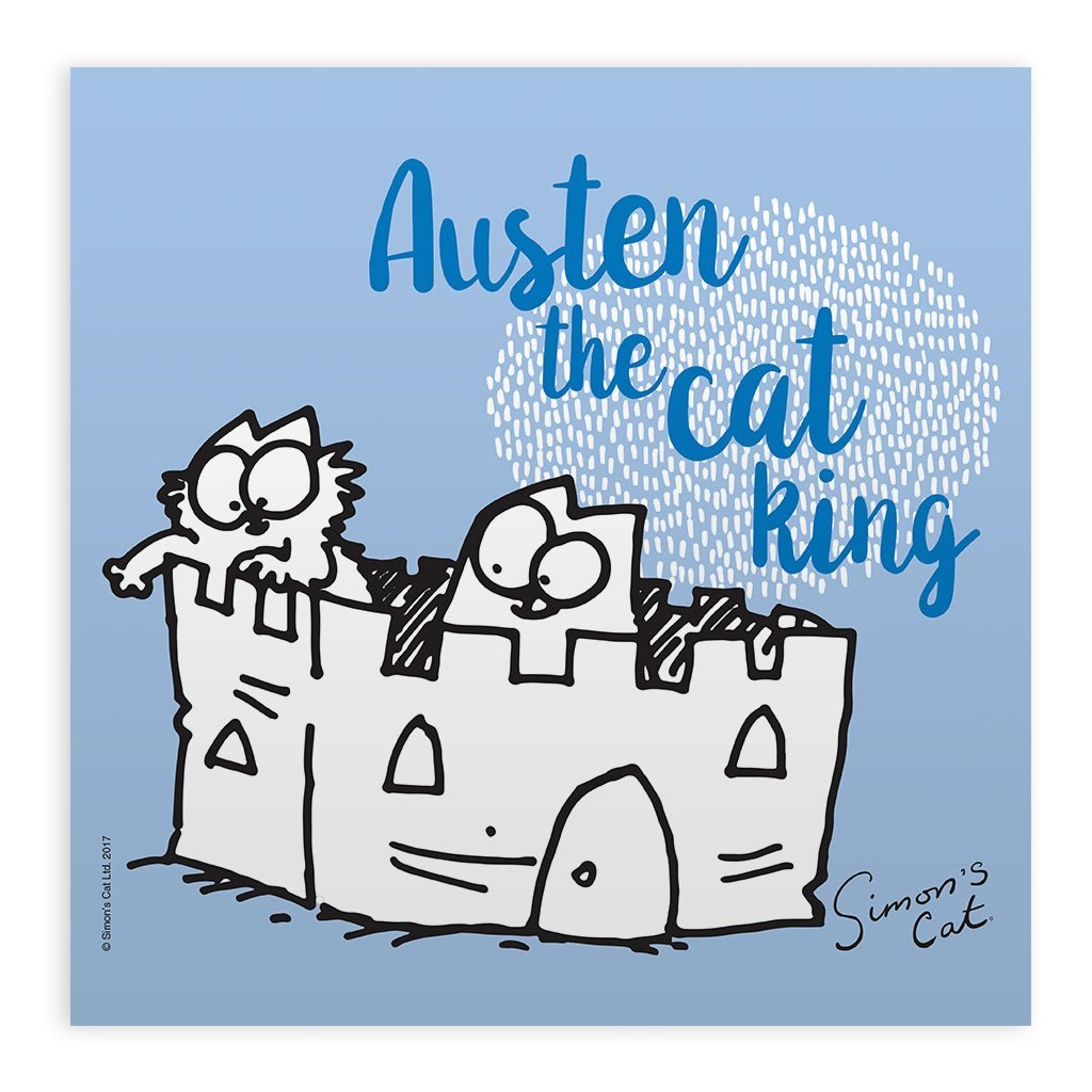 Personalised The Cat King White Framed Print - Simon's Cat Shop