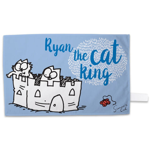 Personalised The Cat King Tea Towel - Simon's Cat Shop