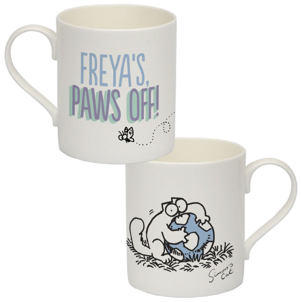 Personalised Paws off! Bone China Mug - Simon's Cat Shop