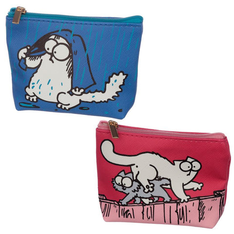 Simon's Cat PVC Purse Pink or Blue