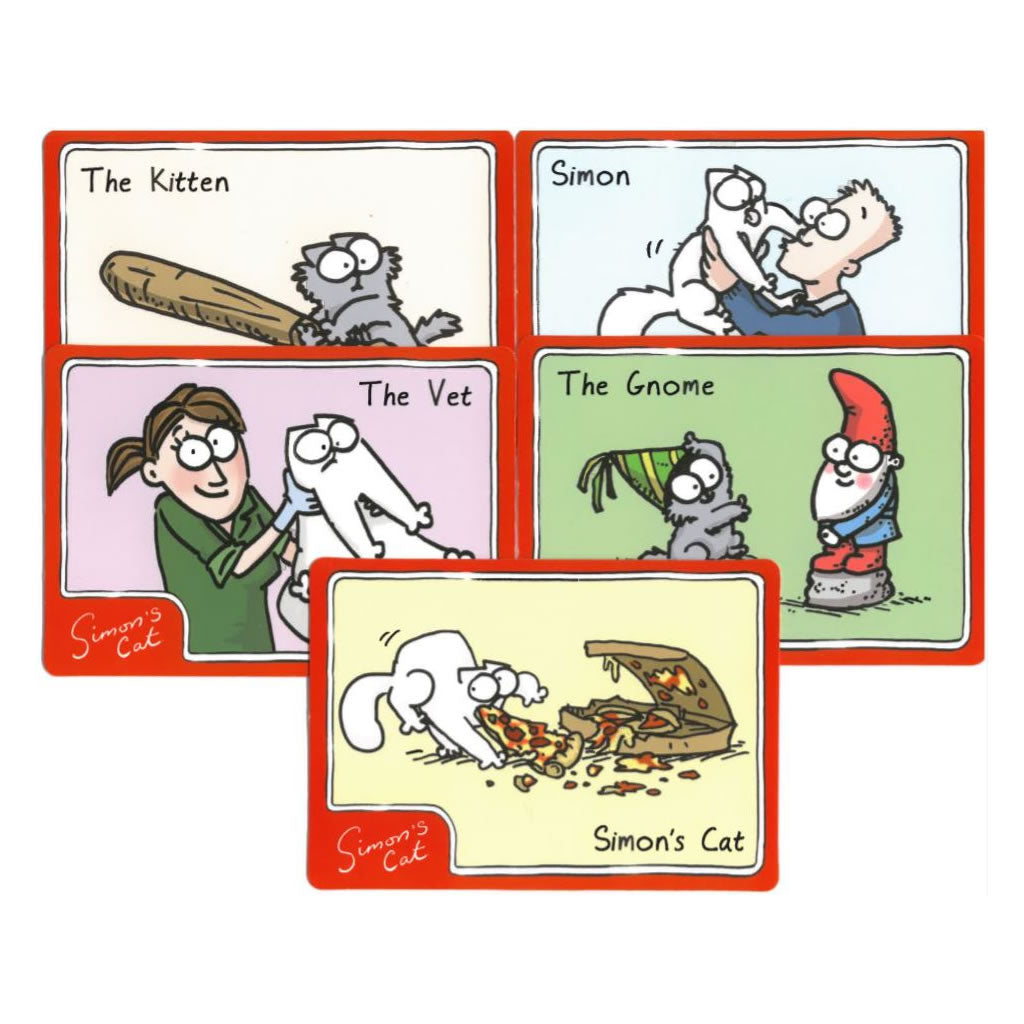Set of 5 Simon's Cat Limited Edition Collectors Card - Simon's Cat Shop