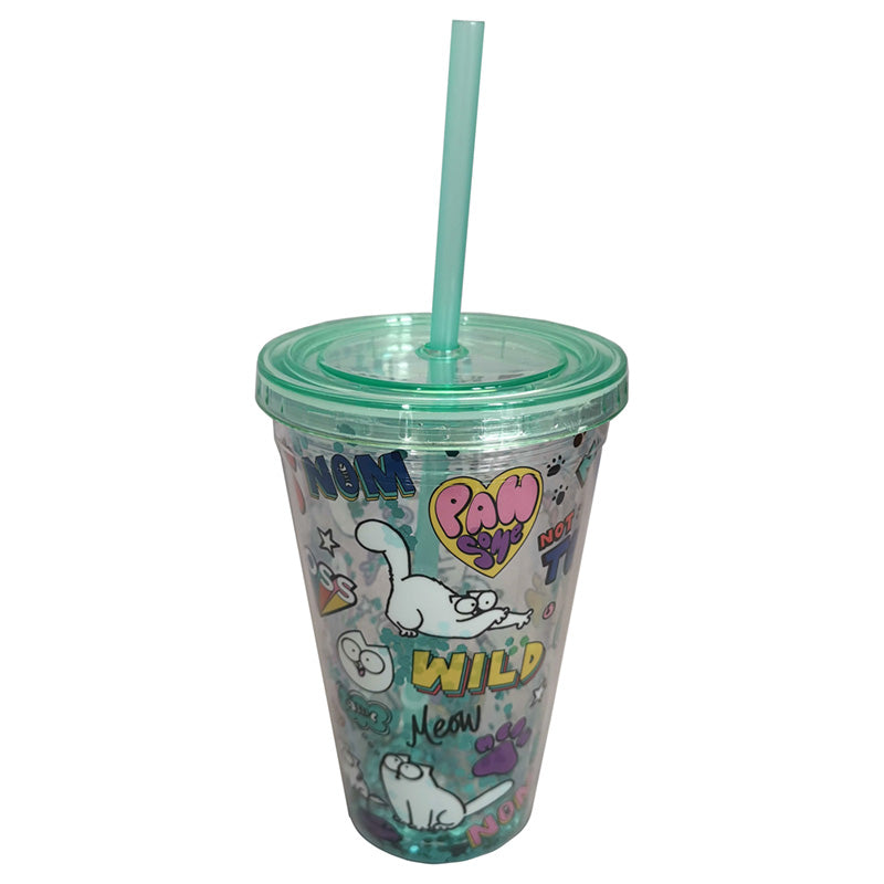 Simon's Cat Plastic Glitter Cup - Simon's Cat Shop