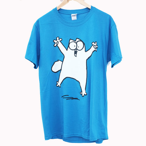 Blue Simon's Cat T-Shirt - Simon's Cat Shop