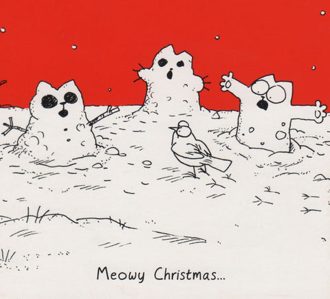 Simon's Cat Christmas Greeting Card pack of 8, 2 designs - Simon's Cat Shop