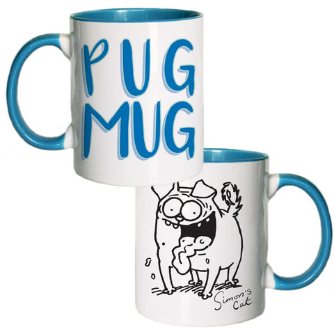 Pug Mug Coloured Insert Mug - Simon's Cat Shop