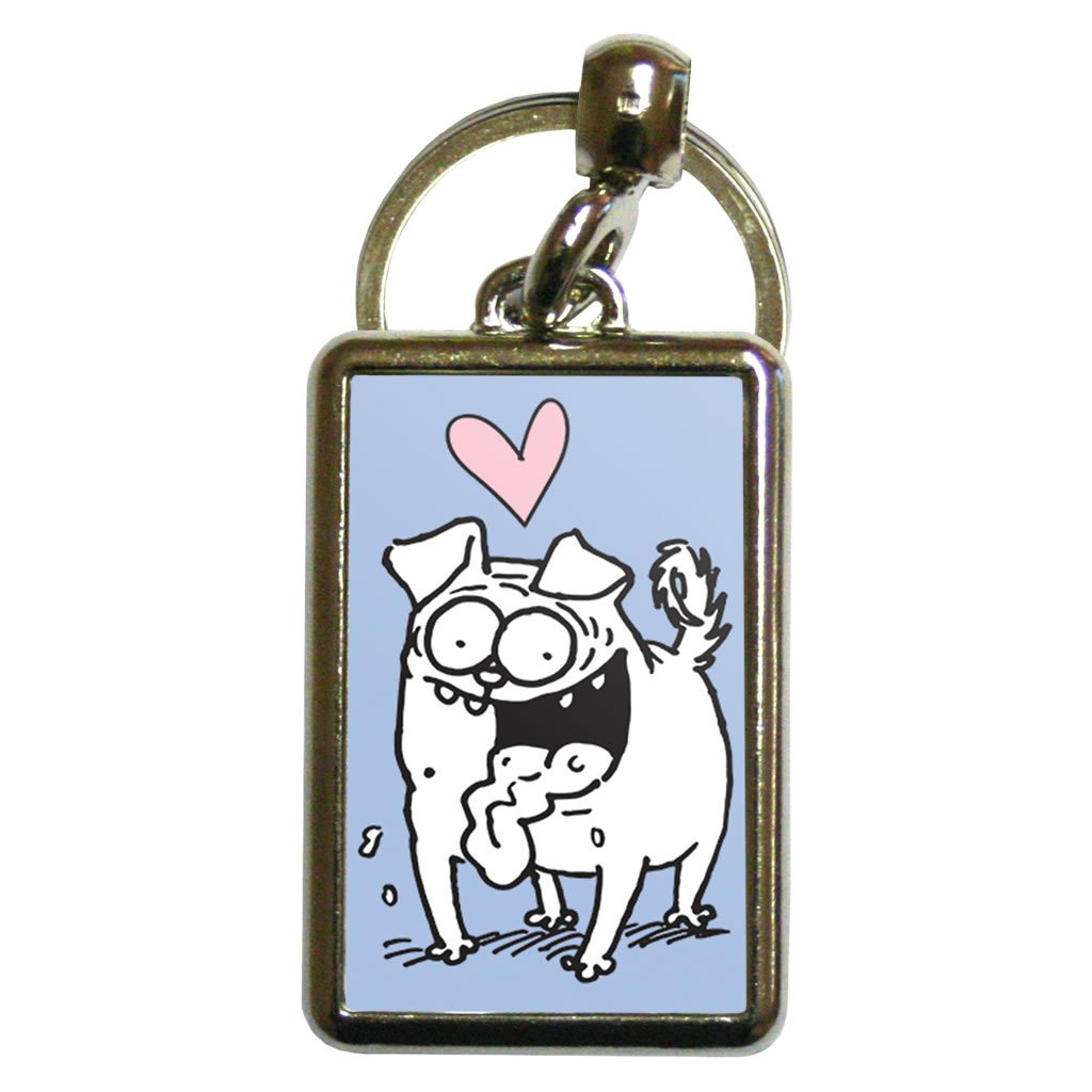 Pug Metal Keyring - Simon's Cat Shop