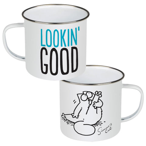 Lookin' Good Enamel Mug - Simon's Cat Shop