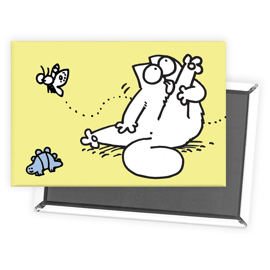 Simon's Cat Yellow Magnet - Simon's Cat Shop