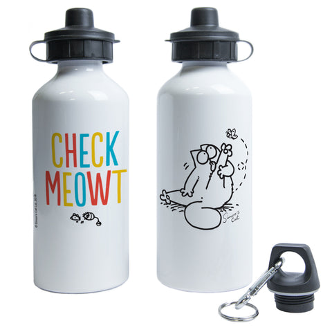 Check Meowt Waterbottle - Simon's Cat Shop
