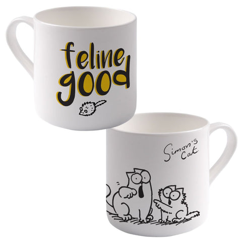 Feline Good Big Bone China Mug - Simon's Cat Shop