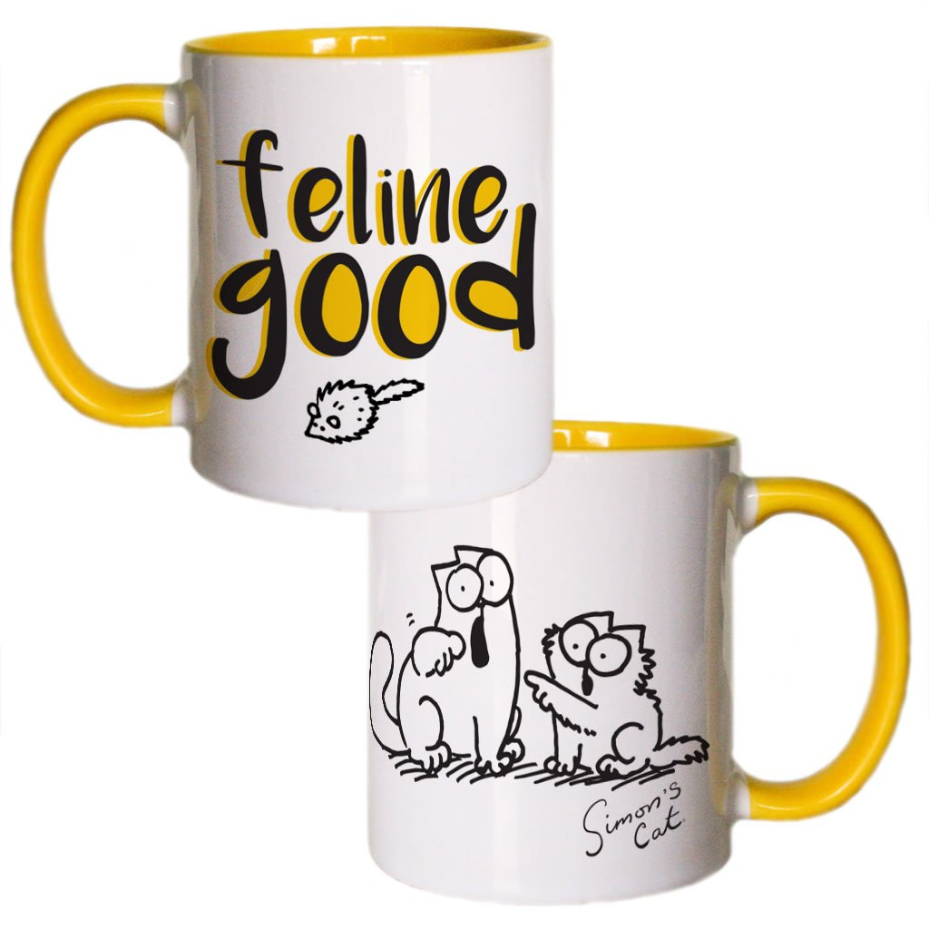 Feline Good Coloured Insert Simon's Cat Mug - Simon's Cat Shop