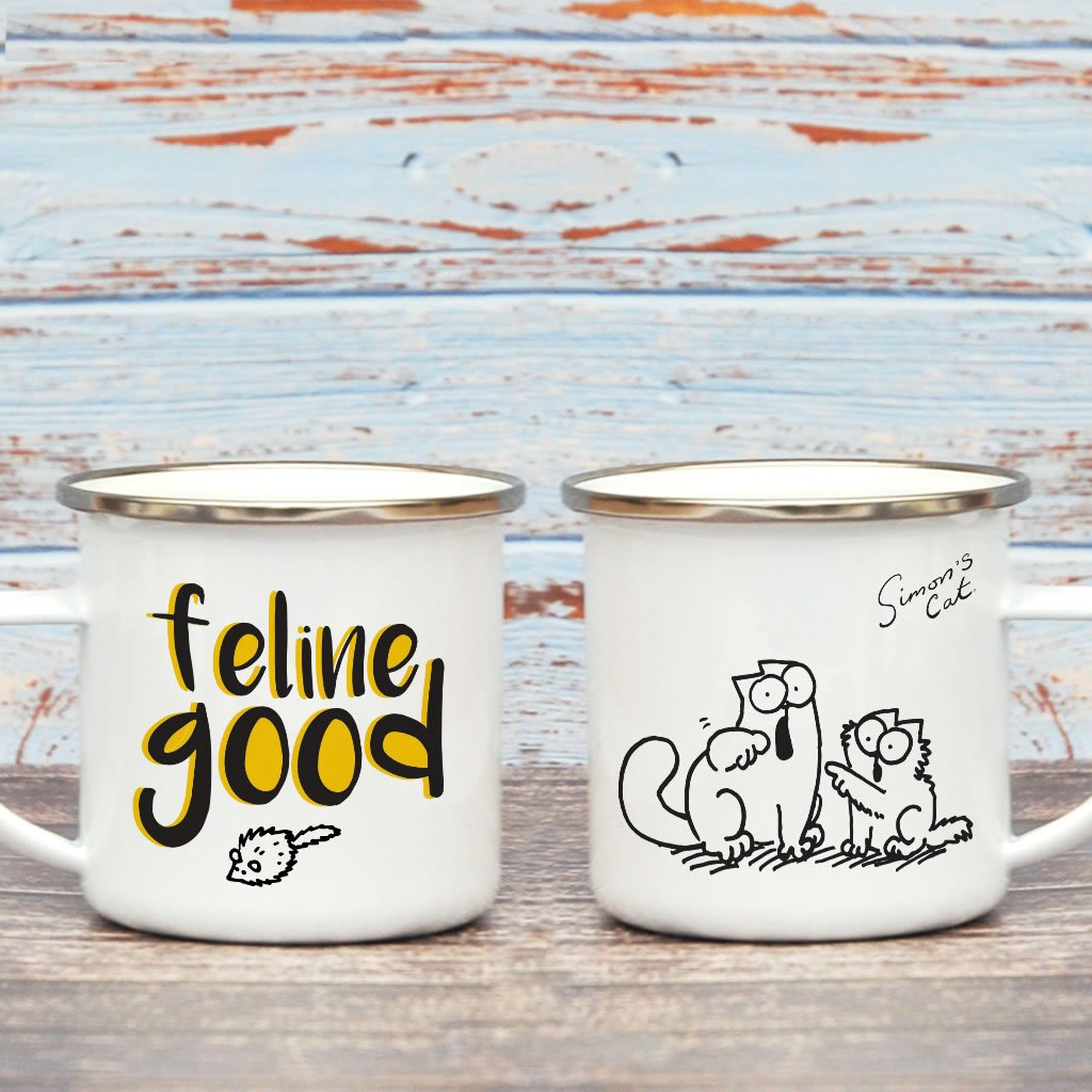 Feline Good Enamel Mug - Simon's Cat Shop