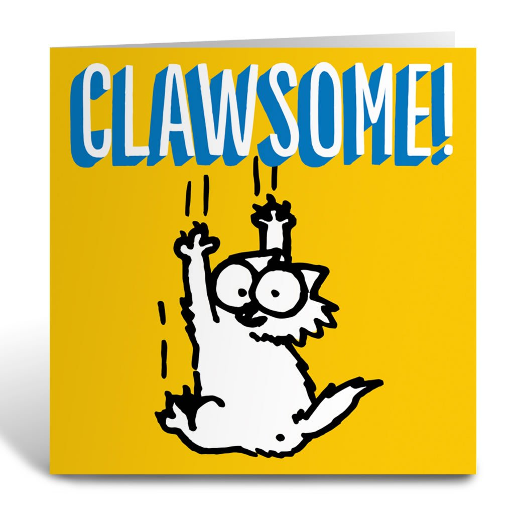 Clawsome Square Greeting Card - Simon's Cat Shop