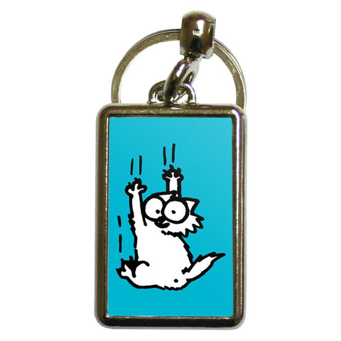 Simon's Cat Scratching Metal Keyring - Simon's Cat Shop